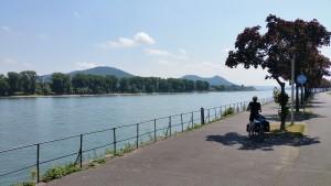 Uitzicht op de Rijn in het stadscentrum van Bonn