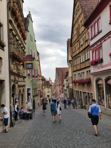 toeristische drukte in Rothenburg