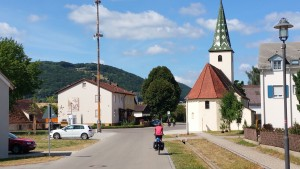 op weg naar Inching, over de Altmuhl radweg