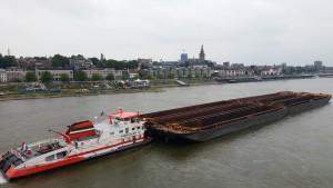 Uitzicht over de Waal en Nijmegen