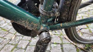 Het resultaat van fietsen op blubberpaden van de R1 Radweg