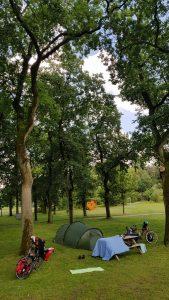 Groen kamperen op de camping in Hövelhof