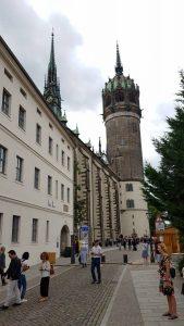 De beroemde kerk van Wittenberg