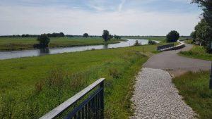 Uiterwaarden langs de Elbe radweg