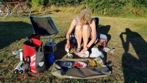 Koken op camping De Koekoek in Tienhoven