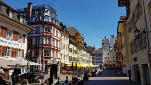 De winkelstraat van Waldshut