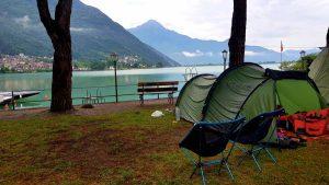 Uitzicht op het Lago di Mezzola
