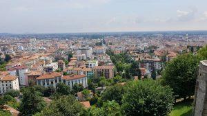 Uitzicht op Bergamo