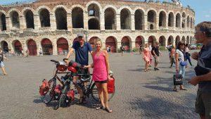 De finishfoto voor de Arena van Verona