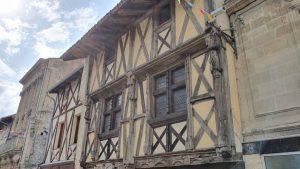 oude gevels in Sainte-Foy-la-Grande